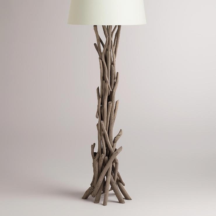grey driftwood floor lamp base - Floor Lamp Base