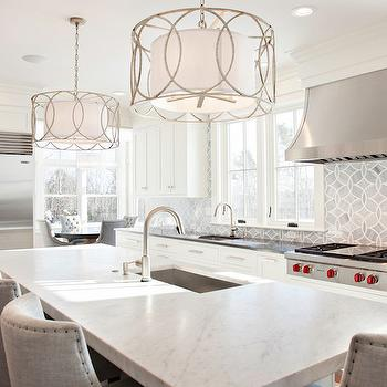White and Gray Kitchens, Transitional, kitchen, New England Design Works