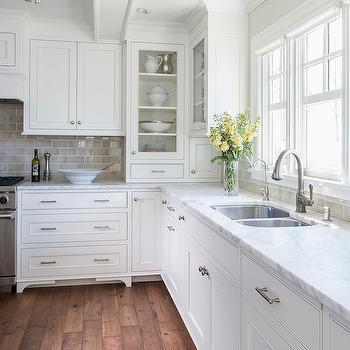 Gray Subway Tiles, Transitional, laundry room, Benjamin Moore Winds Breath, Liz Schupanitz Designs