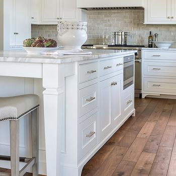 Gray Ceramic Tiles, Transitional, kitchen, Benjamin Moore Simply White, Liz Schupanitz Designs