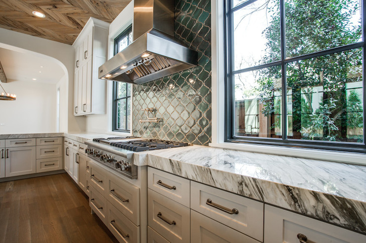 Arabesque Tile Backsplash - Contemporary - kitchen - Tatum Brown ...