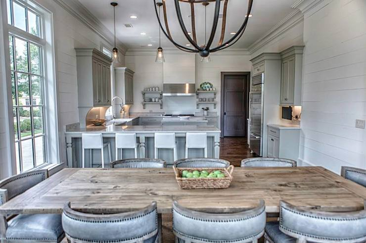 Reclaimed Wood Dining Table - Transitional - kitchen - Benjamin