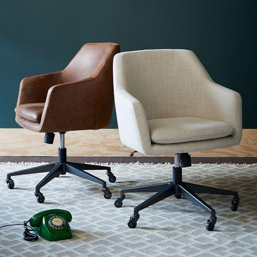 Helvetica Various Colors Leather Office Chair