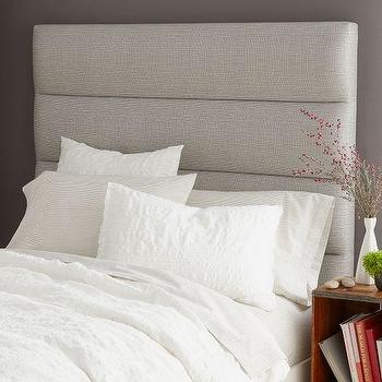 Panel-Tufted Headboard, West Elm
