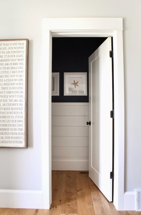 Paneled Powder Room Cottage Entrance Foyer Benjamin