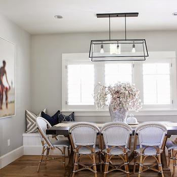 Bistro Dining Chairs, Transitional, dining room, Benjamin Moore Gray Owl, 6th Street Design School