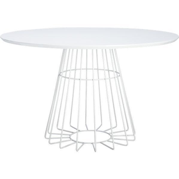 Bernhardt Damonica Round White Oak Dining Table - Cb2 white dining table