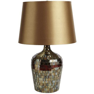 Amber bronze mosaic table lamp mozeypictures Choice Image