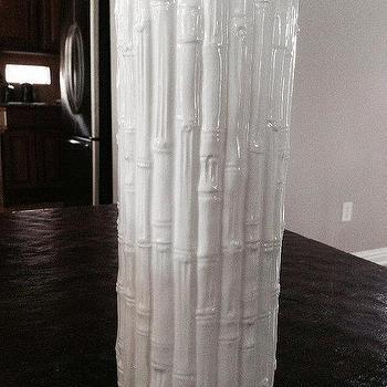 Vintage Ceramic Faux Bamboo White Vase by SwansonLaneHome I Etsy