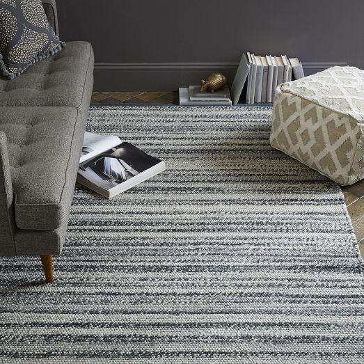 Steven Alan Grey Tweed Wool Rug