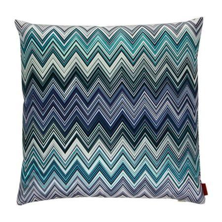 Blue Zigzag Silk Ikat Pillow By Peshte On Etsy