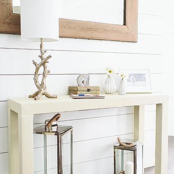 Cream Console Table, Cottage, entrance/foyer, Deluxe Design Studio