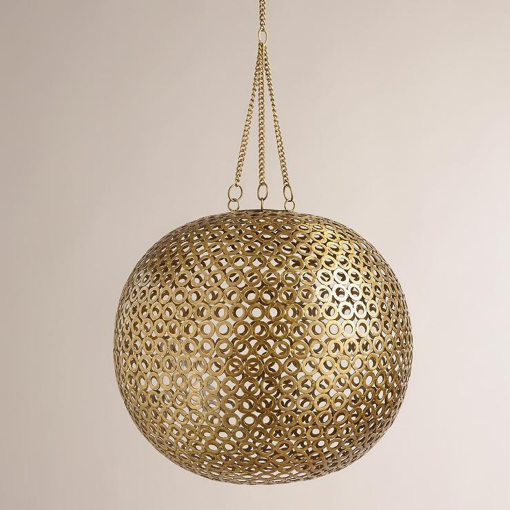 Brass Disc Hanging Brass Pendant Lamp