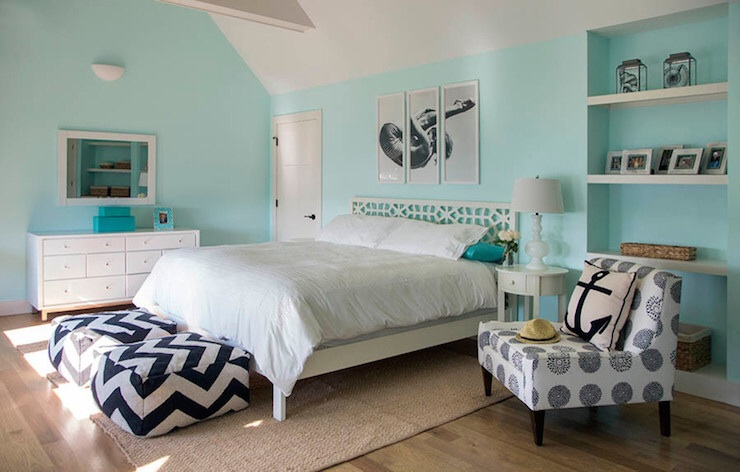 Tiffany blue bedroom contemporary bedroom martha for Tiffany blue living room ideas