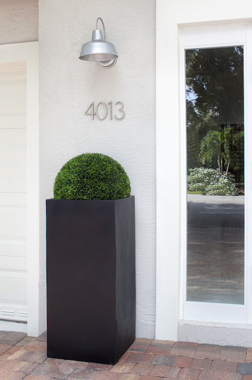 Modern Vertical House Numbers Design Ideas