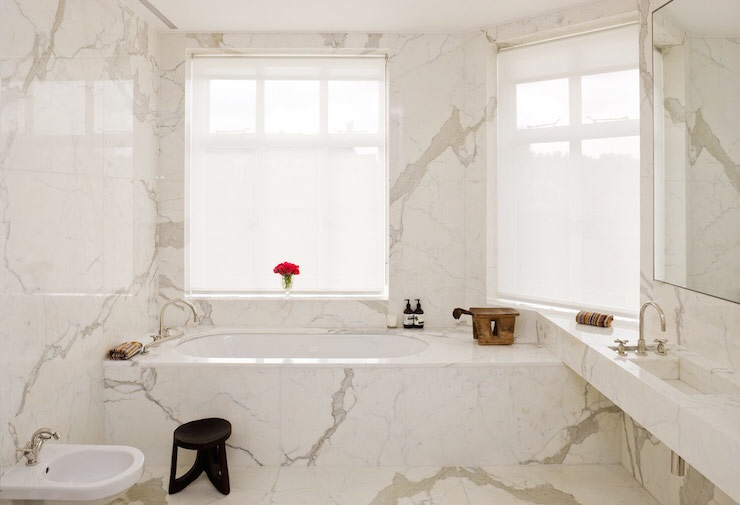 Calacatta statuario marble modern bathroom stone theatre for Bathroom designs kolkata