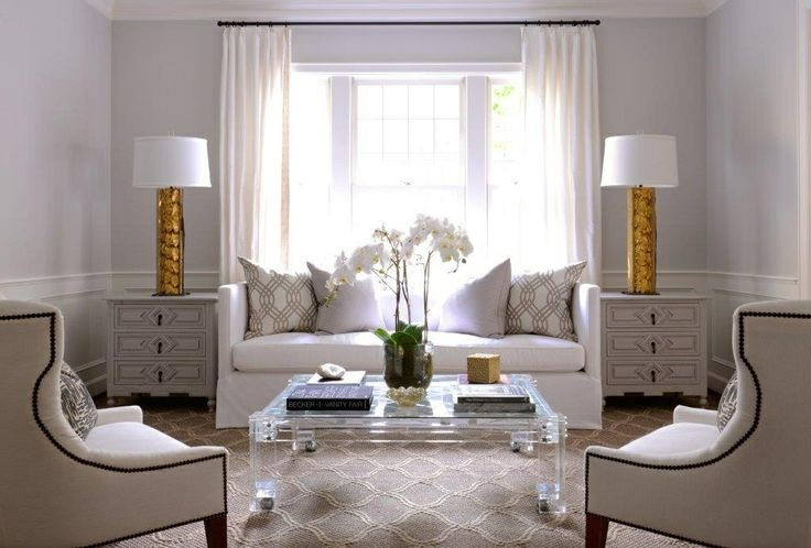 Lucite Greek Key Coffee Table Contemporary Living Room