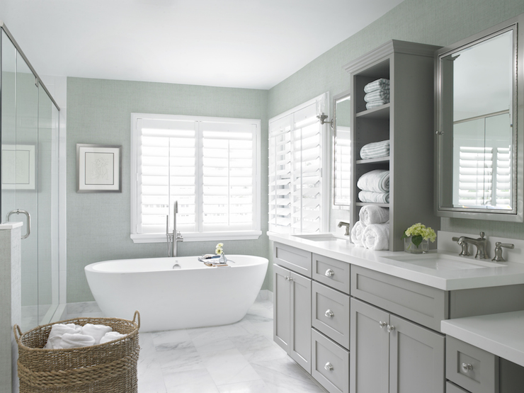 gray bathroom vanity with sink. Gray and Green Bathrooms view full size bathroom Vanity  Contemporary Sophie Burke Design