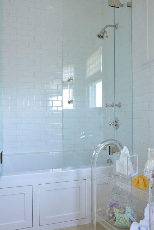 Lucite Cart - Contemporary - bathroom - Munger Interiors
