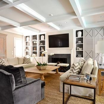 Painted Built Ins, Transitional, living room, Munger Interiors