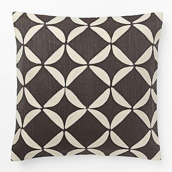 Crewel Circlet Pillow Cover Slate, West Elm