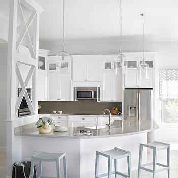Angled Kitchen Island, Contemporary, kitchen, Krista Watterworth Design Studio