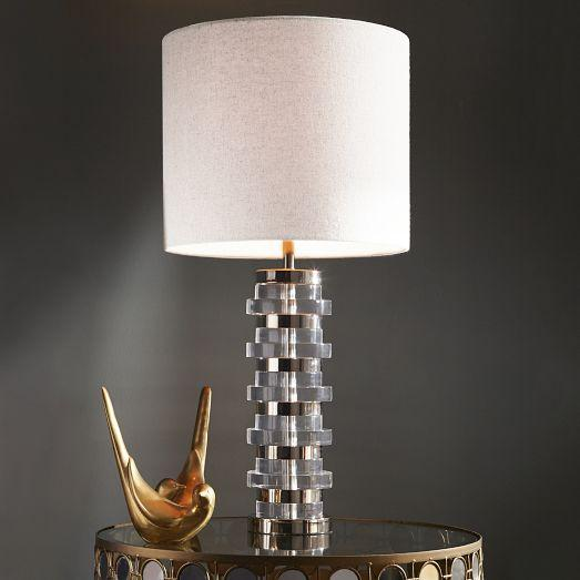 Pottery Barn Montclair Lamp: Bancroft Clear Crystal Lamp