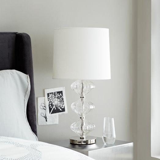 Arteriors Aqua Fluted Glass Table Lamp Horchow
