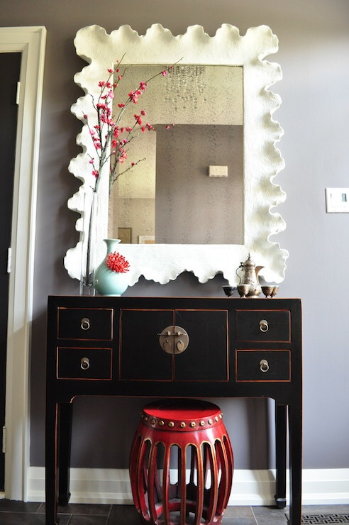Black Chinese Console Table