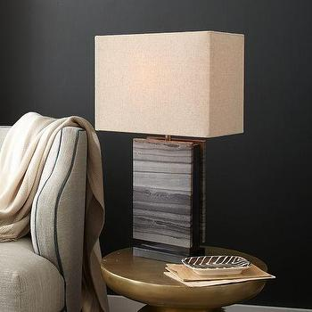 Monolith Stone Table Lamp, West Elm