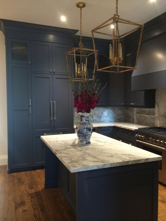 Navy Kitchens Contemporary Kitchen Meredith Heron Design