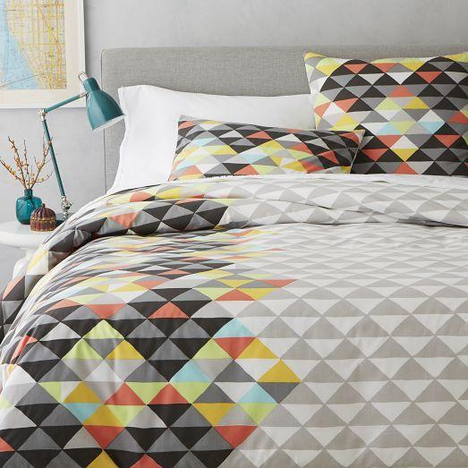 Op Art Grey Duvet Cover And Shams