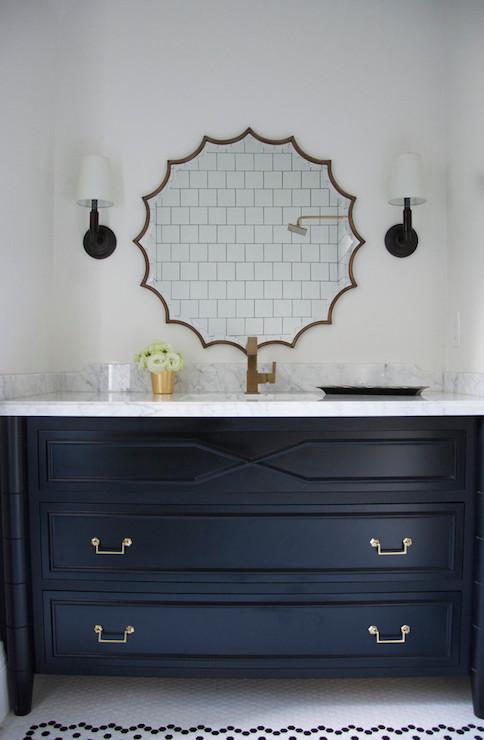 Black Bamboo Vanity Contemporary Bathroom Meredith
