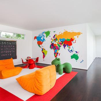 Playroom Chairs, Contemporary, boy's room, Laura U Interior Design