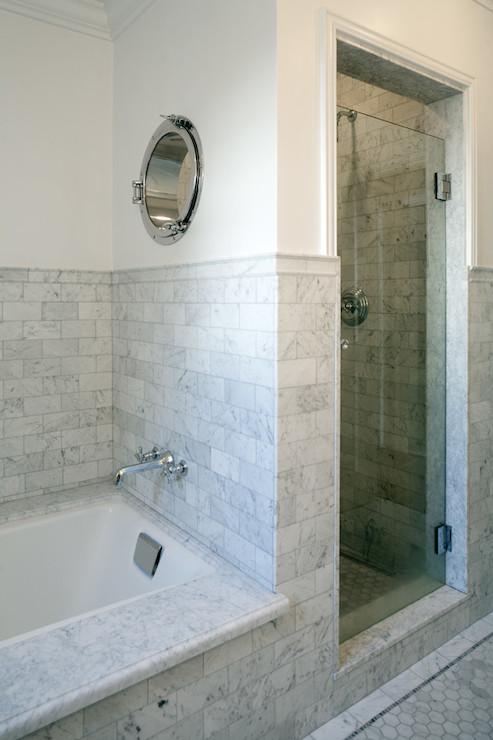Marble Tub Deck Transitional Bathroom Jwt Associates