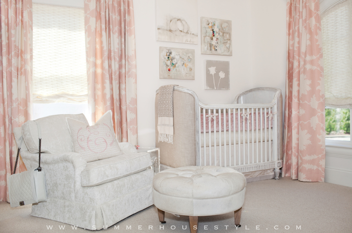 Pink Nursery Curtains French Nursery Summer House Style