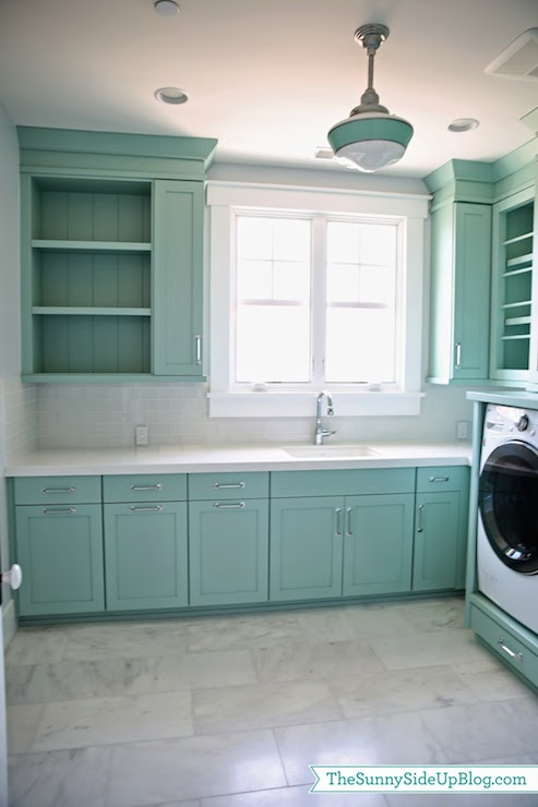 Washer Dryer Pedestal Transitional Laundry Room