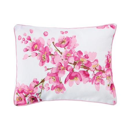 Bluebellgray Cherry Blossom Pink And White Cushion