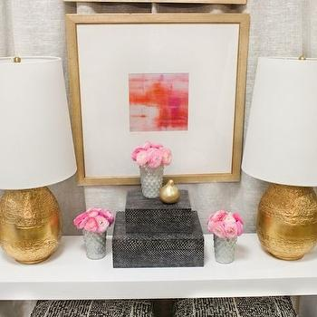 Gold Leaf Table Lamps, Contemporary, entrance/foyer, Summer House Style