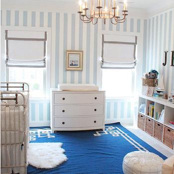 Blue Greek Key Rug, Transitional, nursery, Lindsey Regan Thorne