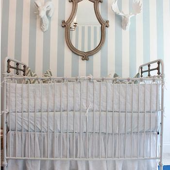 Striped Nursery Wallpaper, Transitional, nursery, Lindsey Regan Thorne