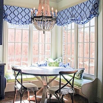 Corner Breakfast Nook, French, dining room, Cote de Texas