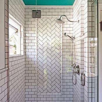 Black Hex Tile Shower Niche Design Ideas