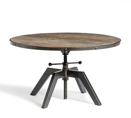 Double Crank Oval Dining Table Four Hands