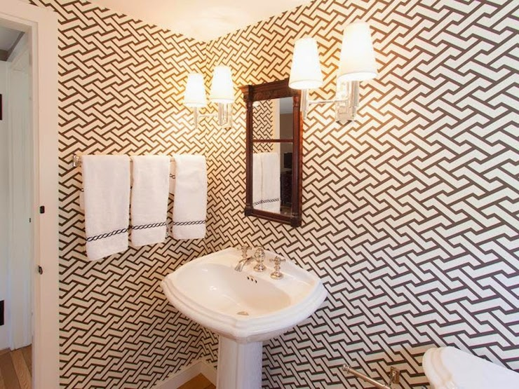 Quadrille Fabrics Aga Wallpaper - Contemporary - bathroom