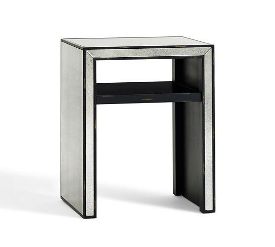 Ambrose Silver Mirrored Side Table