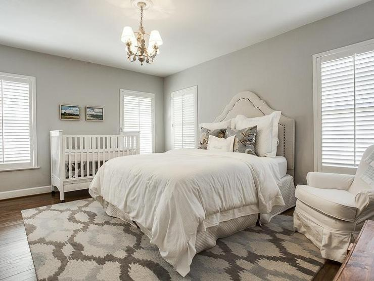Crib in Bedroom - Transitional - bedroom