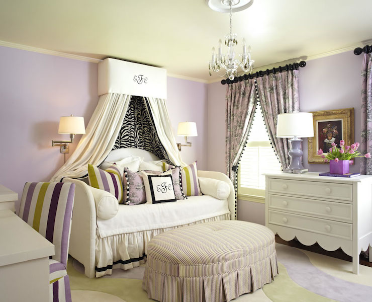 Daybed Canopy & Daybed Canopy - French - Girlu0027s Room - Sherwin Williams Enchant ...