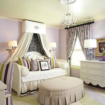Daybed Canopy, French, Girl's Room, Sherwin Williams Enchant, Tobi Fairley