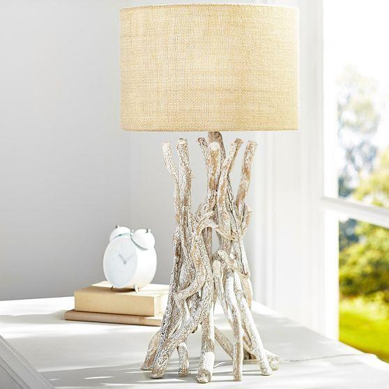 Laguna Whitewash Driftwood Table Lamp